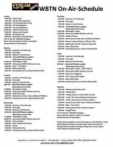 2018 WBTN On-Air Schedule 01-18-18 (2)